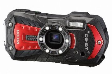 Ricoh WG-60 Camera Red 16MP 5xZoom 2.7LCD FHD Wtprf 14m